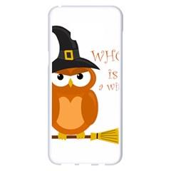 Halloween Orange Witch Owl Samsung Galaxy S8 Plus White Seamless Case