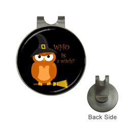 Halloween Orange Witch Owl Hat Clips With Golf Markers by Valentinaart