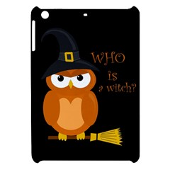 Halloween Orange Witch Owl Apple Ipad Mini Hardshell Case