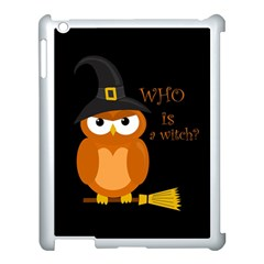Halloween Orange Witch Owl Apple Ipad 3/4 Case (white) by Valentinaart