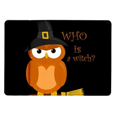 Halloween Orange Witch Owl Samsung Galaxy Tab 10 1  P7500 Flip Case by Valentinaart