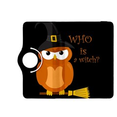 Halloween Orange Witch Owl Kindle Fire Hdx 8 9  Flip 360 Case by Valentinaart