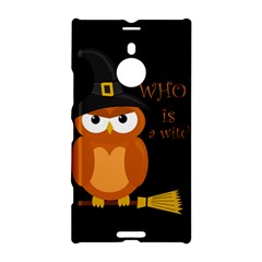 Halloween Orange Witch Owl Nokia Lumia 1520 by Valentinaart