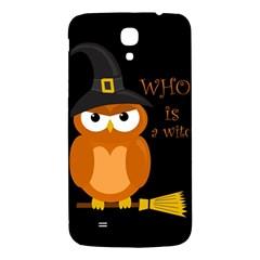 Halloween Orange Witch Owl Samsung Galaxy Mega I9200 Hardshell Back Case by Valentinaart