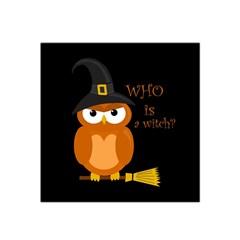 Halloween Orange Witch Owl Satin Bandana Scarf by Valentinaart