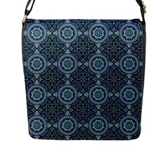 Oriental Pattern Flap Messenger Bag (l)  by ValentinaDesign