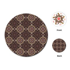 Oriental Pattern Playing Cards (round)  by ValentinaDesign
