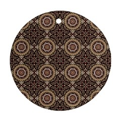 Oriental Pattern Round Ornament (two Sides) by ValentinaDesign