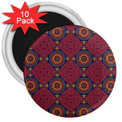 Oriental Pattern 3  Magnets (10 Pack)  by ValentinaDesign
