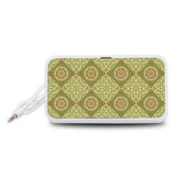 Oriental Pattern Portable Speaker (white) by ValentinaDesign