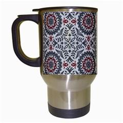 Oriental Pattern Travel Mugs (white) by ValentinaDesign