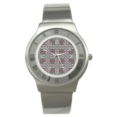 Oriental Pattern Stainless Steel Watch by ValentinaDesign