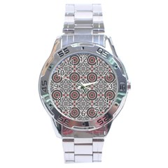 Oriental Pattern Stainless Steel Analogue Watch by ValentinaDesign