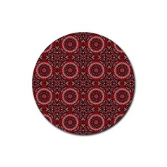 Oriental Pattern Rubber Coaster (round)  by ValentinaDesign