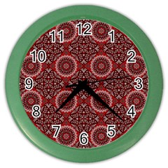 Oriental Pattern Color Wall Clocks by ValentinaDesign