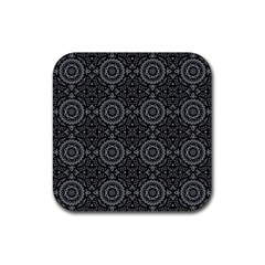 Oriental Pattern Rubber Coaster (square)  by ValentinaDesign
