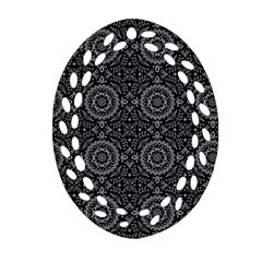 Oriental Pattern Oval Filigree Ornament (two Sides) by ValentinaDesign