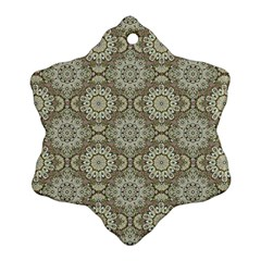 Oriental Pattern Snowflake Ornament (two Sides) by ValentinaDesign