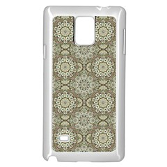 Oriental Pattern Samsung Galaxy Note 4 Case (white) by ValentinaDesign