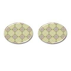 Oriental Pattern Cufflinks (oval) by ValentinaDesign