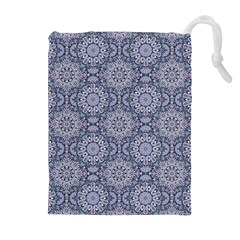 Oriental Pattern Drawstring Pouches (extra Large) by ValentinaDesign