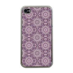 Oriental Pattern Apple Iphone 4 Case (clear) by ValentinaDesign