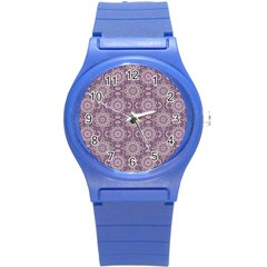 Oriental Pattern Round Plastic Sport Watch (s) by ValentinaDesign