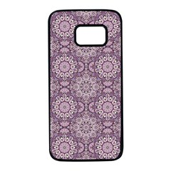 Oriental Pattern Samsung Galaxy S7 Black Seamless Case by ValentinaDesign