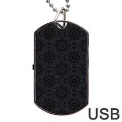 Oriental Pattern Dog Tag Usb Flash (two Sides) by ValentinaDesign