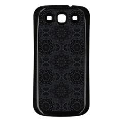 Oriental Pattern Samsung Galaxy S3 Back Case (black) by ValentinaDesign