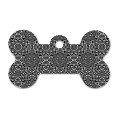Oriental Pattern Dog Tag Bone (two Sides) by ValentinaDesign