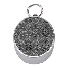 Oriental Pattern Mini Silver Compasses by ValentinaDesign