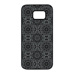 Oriental Pattern Samsung Galaxy S7 Edge Black Seamless Case by ValentinaDesign