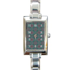 Oriental Pattern Rectangle Italian Charm Watch by ValentinaDesign