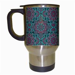 Oriental Pattern Travel Mugs (white) by ValentinaDesign