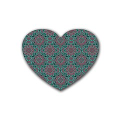 Oriental Pattern Heart Coaster (4 Pack)  by ValentinaDesign