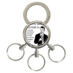 Rick Astley 3 Ring Key Chains by Powwow