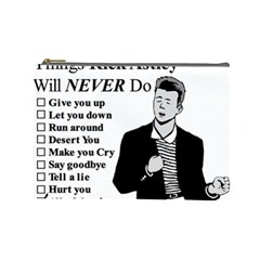 Rick Astley Cosmetic Bag (large)  by Powwow