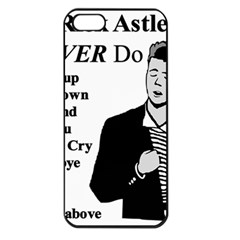 Rick Astley Apple Iphone 5 Seamless Case (black) by Powwow