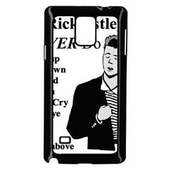 Rick Astley Samsung Galaxy Note 4 Case (black) by Powwow