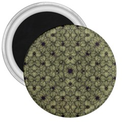 Stylized Modern Floral Design 3  Magnets by dflcprints
