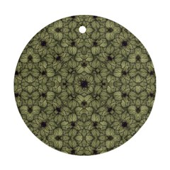 Stylized Modern Floral Design Ornament (round) by dflcprints