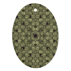 Stylized Modern Floral Design Ornament (oval) by dflcprints
