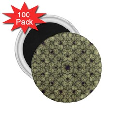 Stylized Modern Floral Design 2 25  Magnets (100 Pack)  by dflcprints