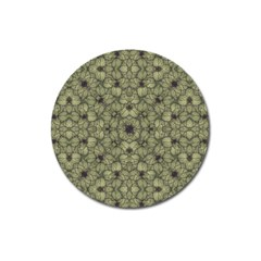 Stylized Modern Floral Design Magnet 3  (round) by dflcprints