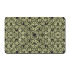 Stylized Modern Floral Design Magnet (rectangular) by dflcprints