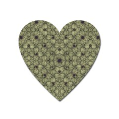 Stylized Modern Floral Design Heart Magnet by dflcprints