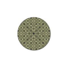 Stylized Modern Floral Design Golf Ball Marker by dflcprints
