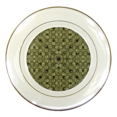 Stylized Modern Floral Design Porcelain Plates by dflcprints