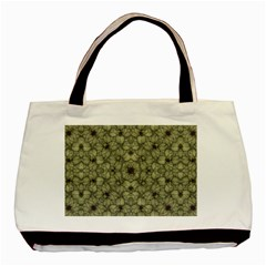 Stylized Modern Floral Design Basic Tote Bag by dflcprints